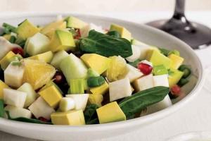 Avokadolu ve Yeşil Elmalı Narlı Salata